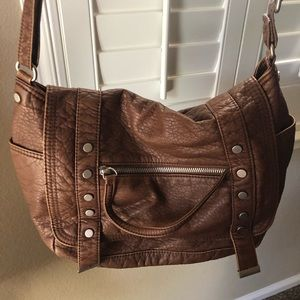 Aeropostale Faux Leather Shoulder Bag